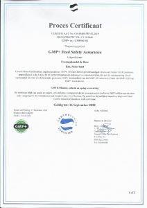 GMP certificaat Fouragehandel De Boer